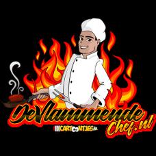 de vlammende chef logo