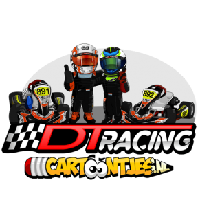 DT RACING cartoon logo