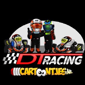 DT RACING cartoon logo