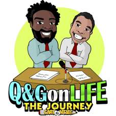 Q&G on life the journey cartoon logo