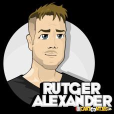 Rutger alexander youtube kanaal logo ontwerp